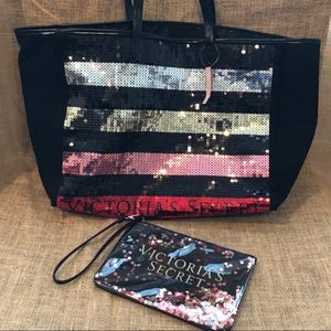Victoria's Secret Sequin Tote and mini bag